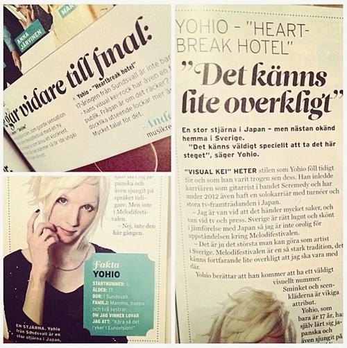 YOHIO melodifestivalen magazine